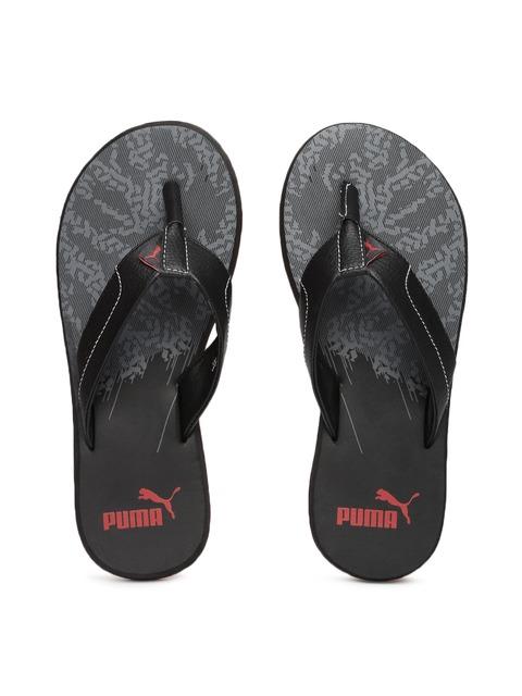 013b80b6775 Buy Puma Men Black   Grey Wrens II GU DP Printed Flip Flops - Flip Flops  for Men 1823385