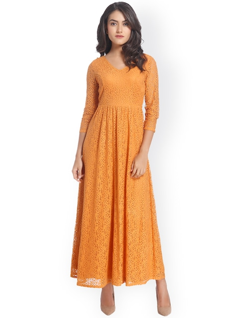 Lace maxi dress for women