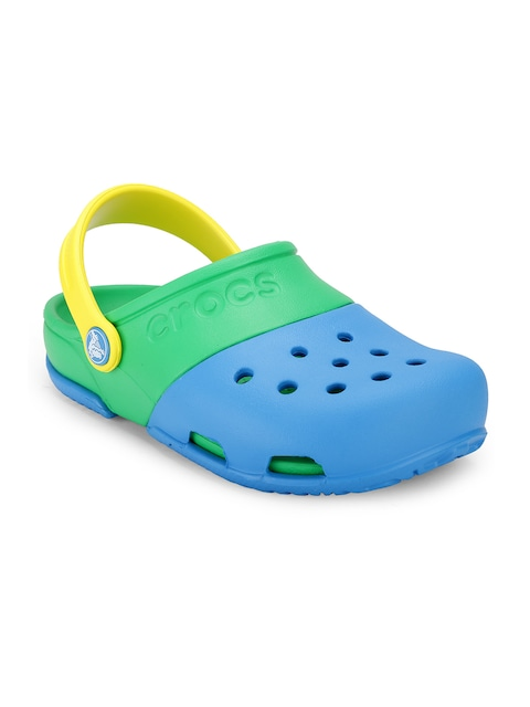 Crocs Boys Blue & Green Colourblocked Clogs thumbnail