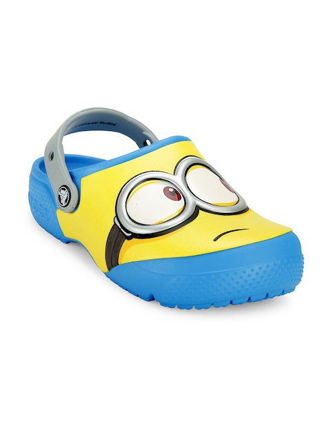 Crocs Boys Yellow & Blue Minion Print Clogs thumbnail