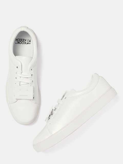 Kook N Keech Women White Sneakers thumbnail