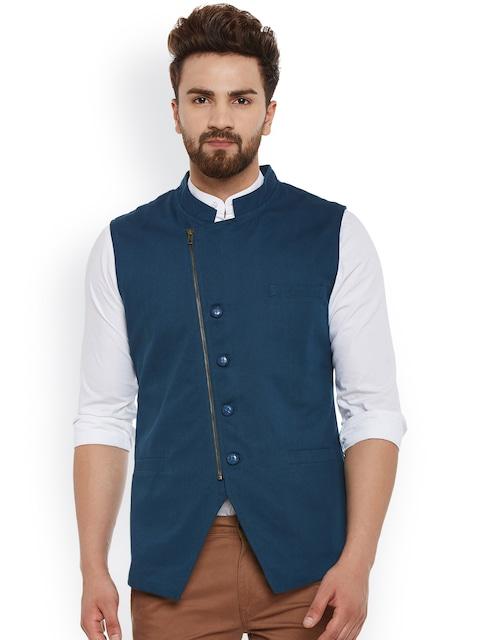 Hypernation Teal Blue Nehru Jacket