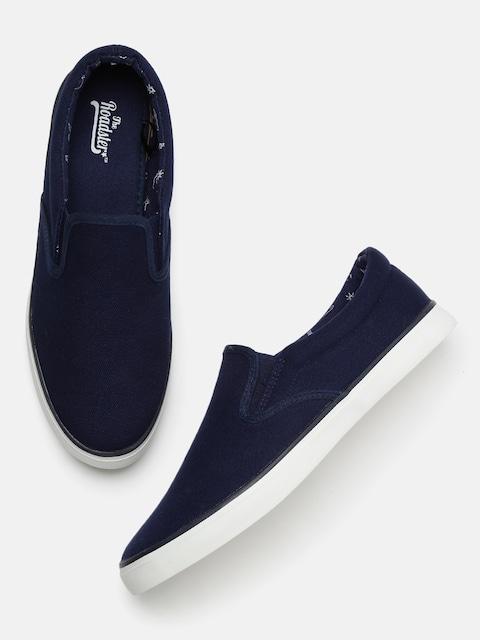 Roadster Men Navy Blue Slip-On Sneakers