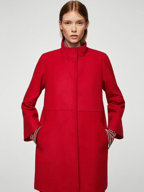 Buy MANGO Red Coat - Coats for Women | Myntra