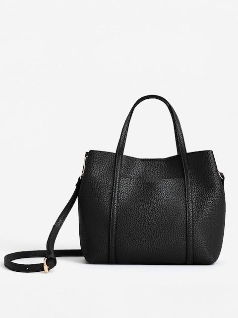 Mango Black Solid Handheld Bag With Sling Strap Handbags For Women 2142004 Myntra