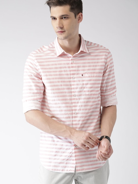 Image result for Striped Casual Shirts for man pink