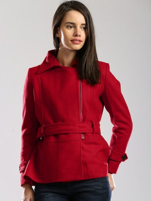 Buy DressBerry Red Short Coat - Coats for Women | Myntra