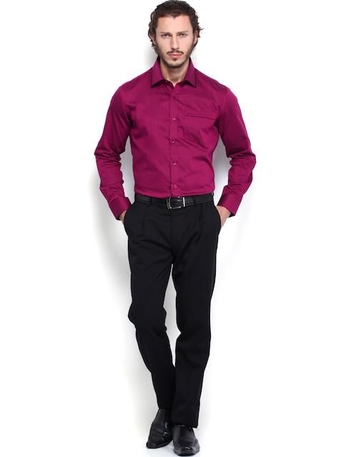 Buy Urbana Men Dark Pink Tailored Fit Formal Shirt - Shirts for ...