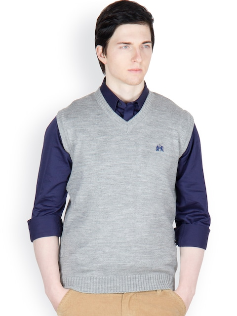 Buy Cotton County Premium Men Grey Sleeveless Pullover - Sweaters ...