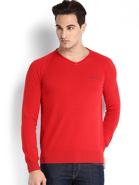 Buy Being Human Clothing Men Red Sweater - Sweaters for Men 555078 ...