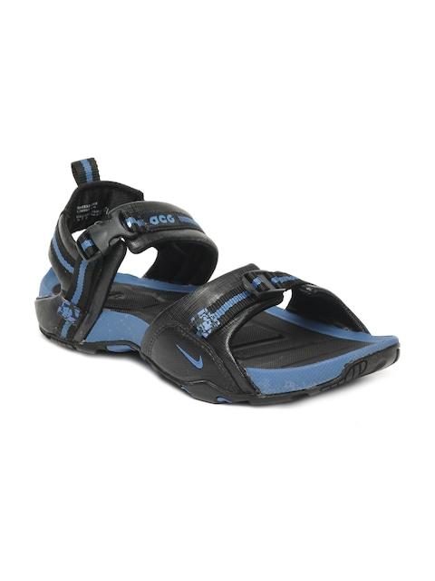 online retailer e23fd 5f800 ... sale 20db1 6b167 release date buy nike men black air embark sports  sandals sports sandals for men 61083 myntra ...