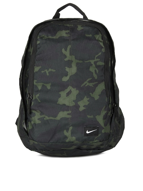 64a24c8df9 Nike Men Green Black Camouflage Hayward Backpack Backpacks