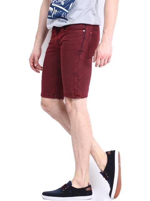 Buy STANLEY KANE Men Maroon Denim Shorts - Shorts for Men | Myntra