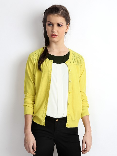 Buy Vero Moda Women Yellow Cardigan - Sweaters for Women 262515 ...