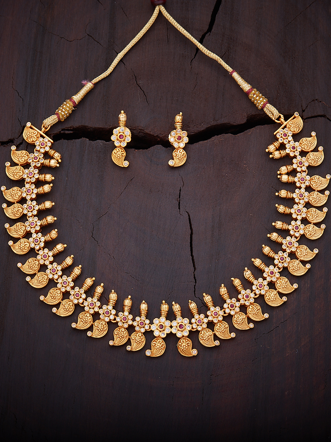 Buy Kushalu0027s Fashion Jewellery Gold Plated Antique Jewellery Set - Jewellery Set for Women 2478947 | Myntra & Buy Kushalu0027s Fashion Jewellery Gold Plated Antique Jewellery Set ...