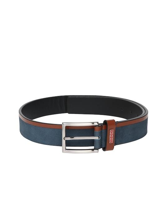 IZOD Men Dark Navy Leather Belt