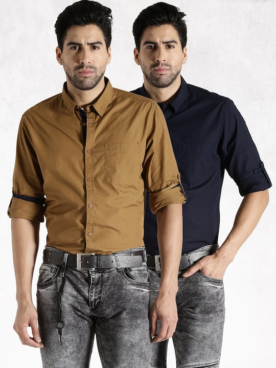 Roadster Pack of 2 Casual Shirts