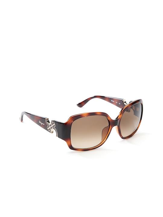 Salvatore Ferragamo Women Animal Print Square Sunglasses SF642S 214