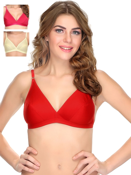 Clovia Pack of 3 Full-Coverage T-shirt Bras 499