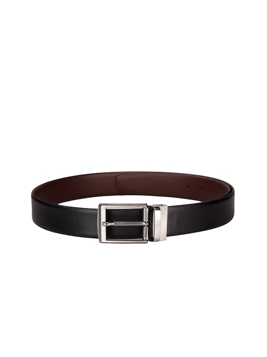 TWKD Leathers Men Black Leather Belt