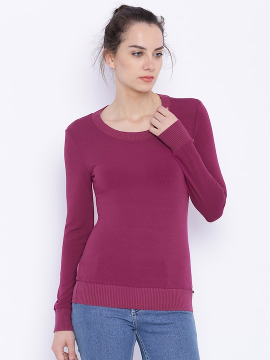 Deal Jeans Women Magenta Top