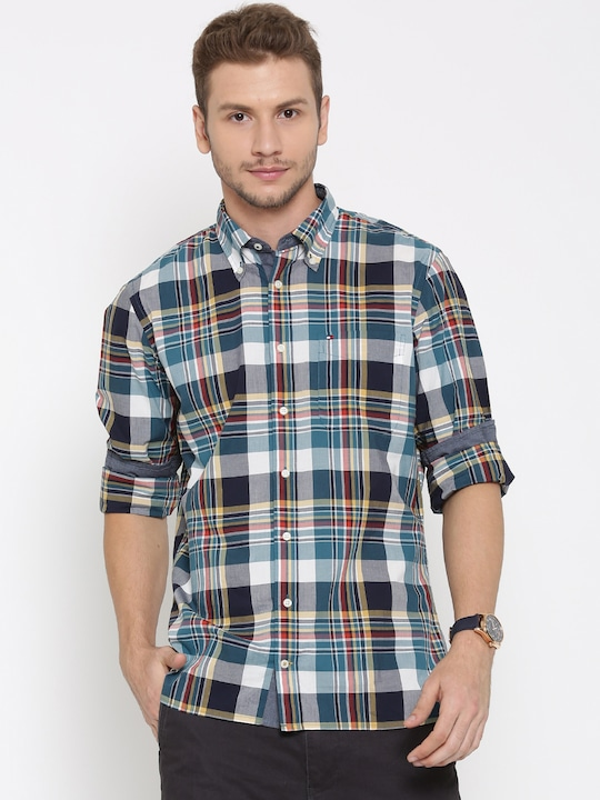 Tommy Hilfiger Men Multicolour Custom Fit Checked Casual Shirt
