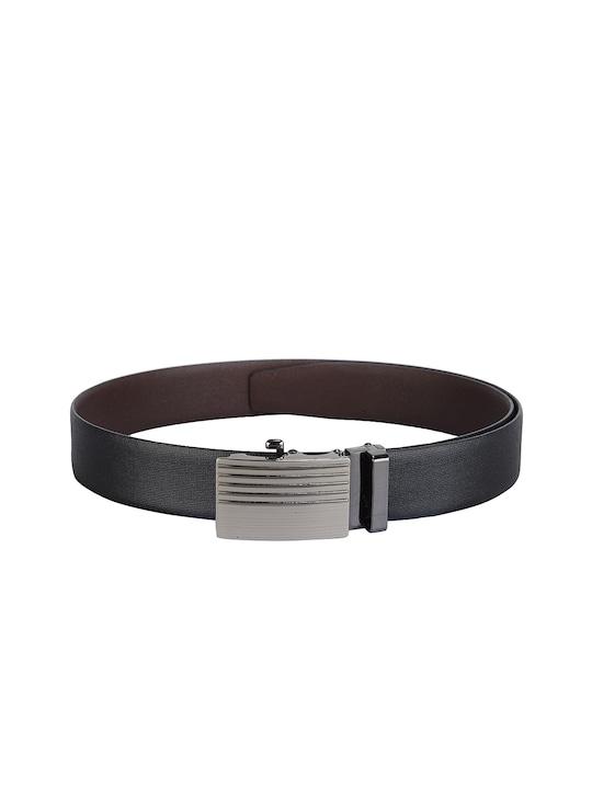 Teakwood Leathers Men Black Leather Belt