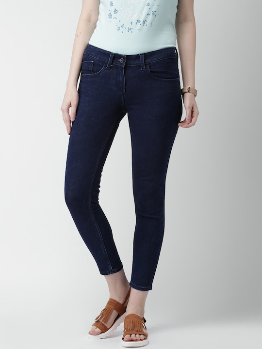 Mast & Harbour Women Blue Skinny Fit Ankle Length Jeans