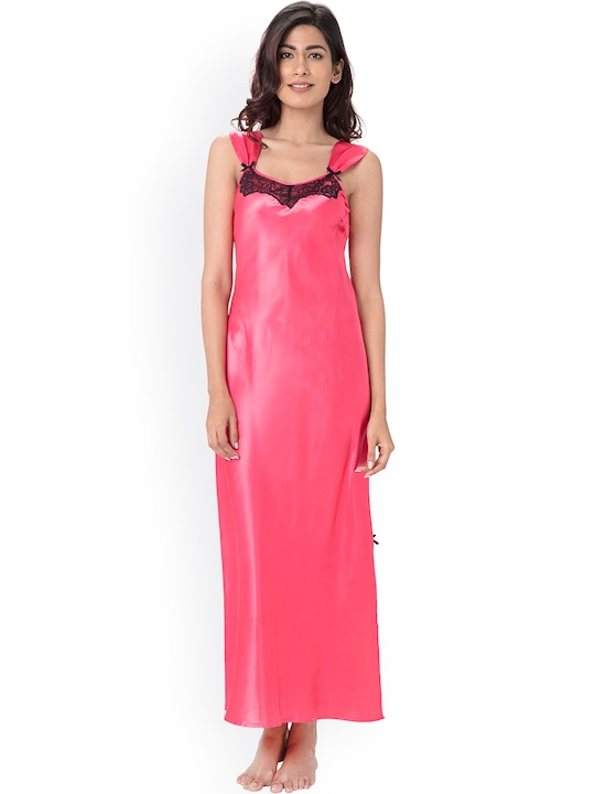 PrettySecrets Pink Maxi Nightdress PS1216SCL01