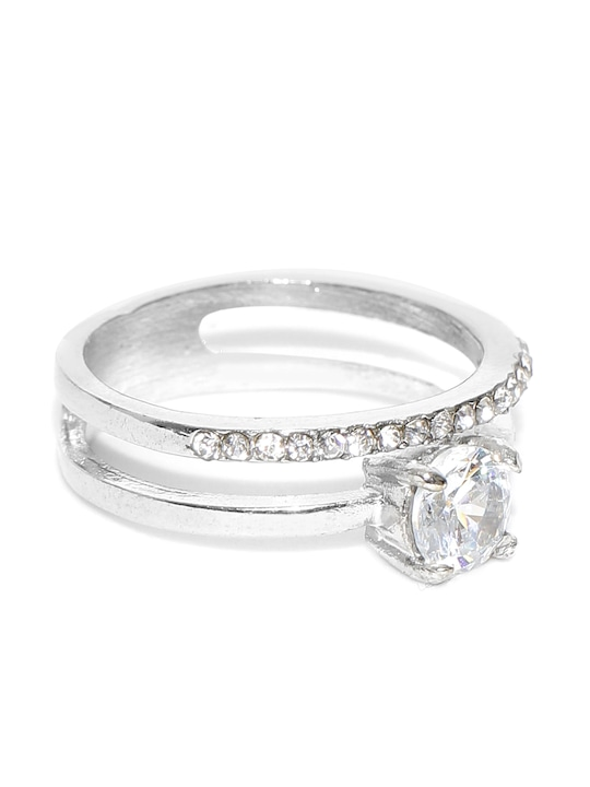 Silver Plated Solitaire Cubic Zirconia Engagement Ring Buy Online In Zimbabwe At Desertcart Co Zw Productid 137421727