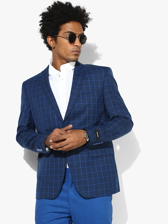 Blue Checked Blazer