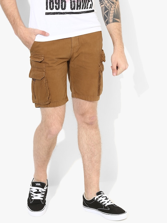 Camel Solid Shorts