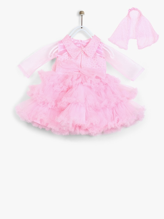 Pink Party Dress With Shrug