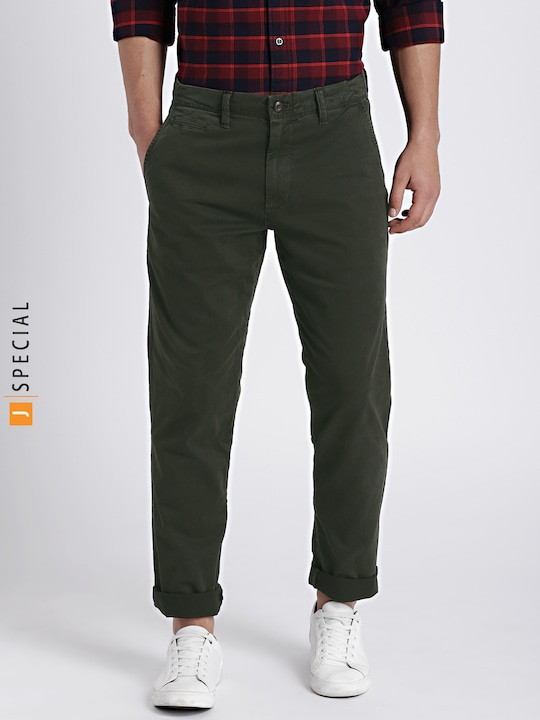 Olive Slim Fit Chinos