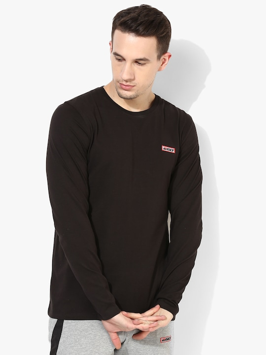 Brown Washed Round Neck T-Shirt
