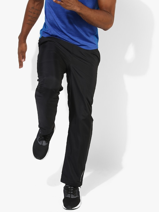 Black Solid Slim Fit Track Pants