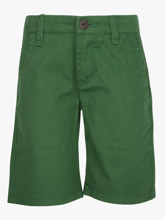 Green Solid Shorts
