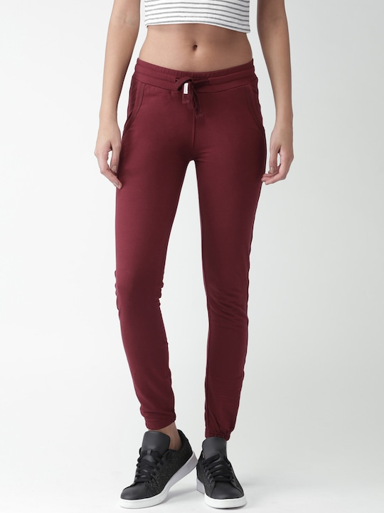Maroon Regular Joggers