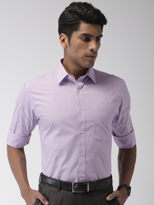 Lavender Solid Formal Shirt