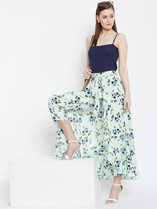 Layered Drama Pant & Maxi Skirt