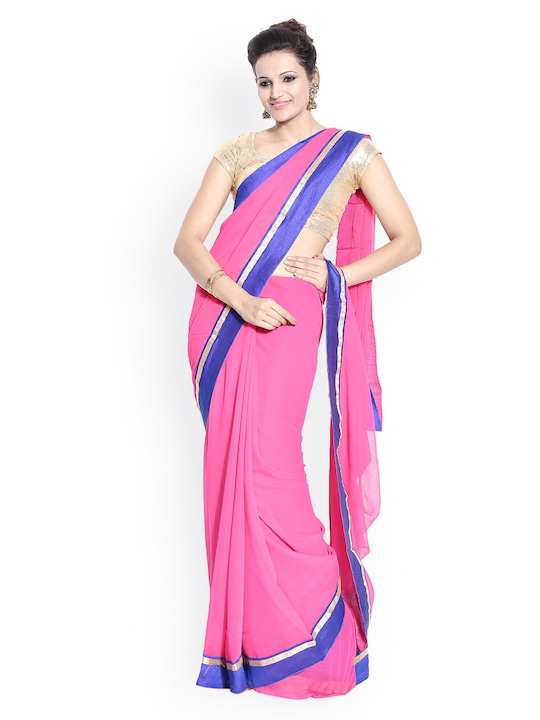Florence Pink Chiffon Fashion Saree