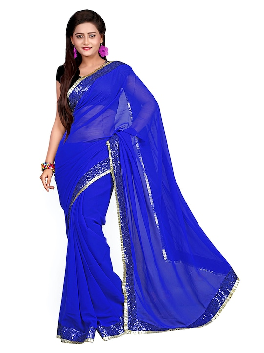 Florence Blue Georgette Fashion Saree