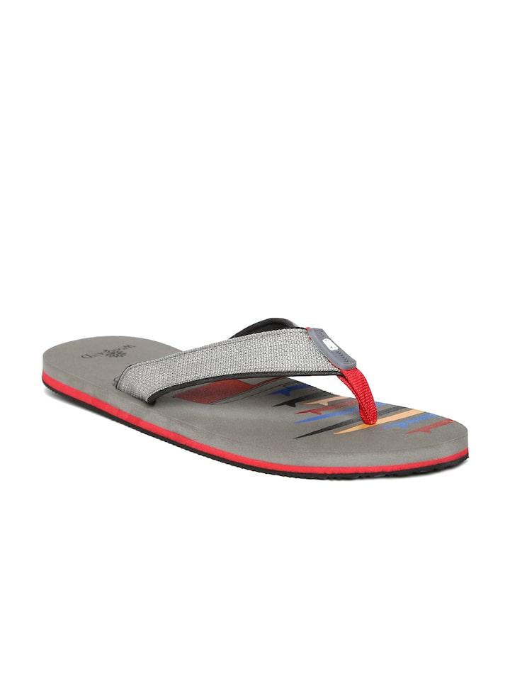 13334c1cd Buy Woodland ProPlanet Men Grey Printed Flip Flops - Flip Flops for Men  1489460