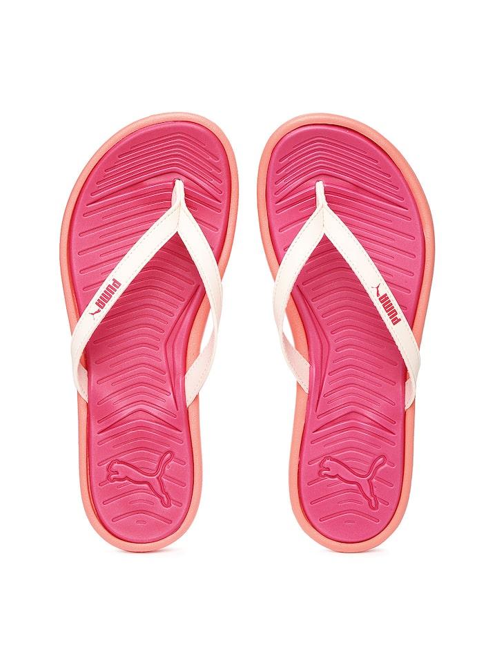 db43f04893b Buy PUMA Women Cream Coloured   Pink Lux Flip Pro Flip Flops - Flip Flops  for Women 1564660
