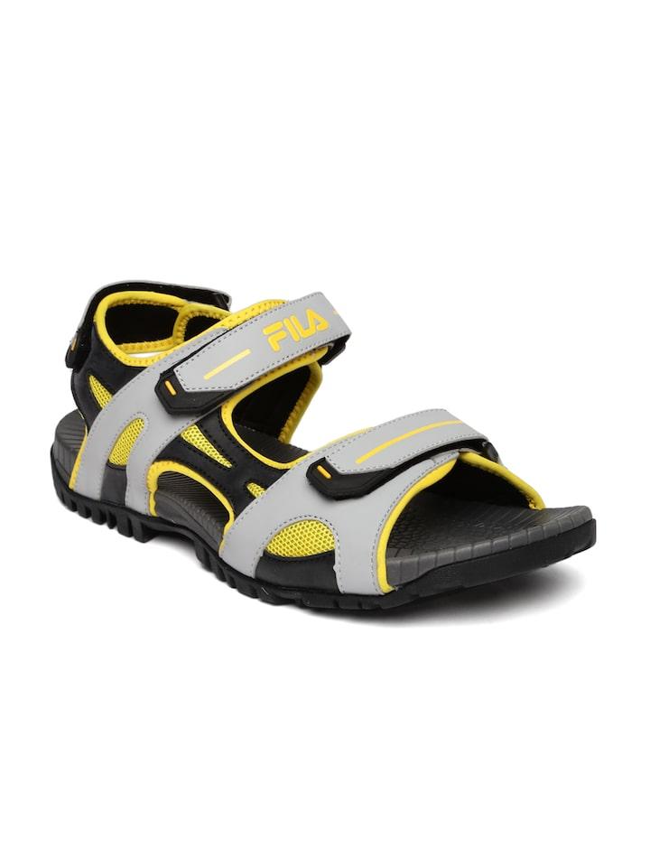 abce2a44c49d Buy FILA Men Grey   Yellow DOC Sports Sandals - Sports Sandals for Men  2360759