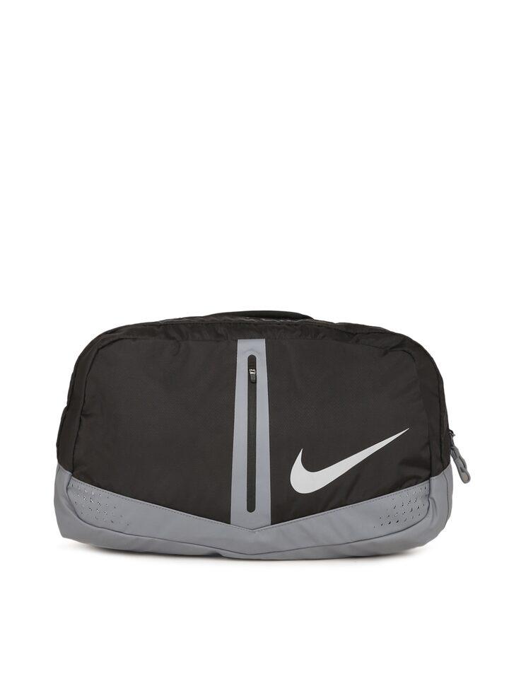 3a9259fb0a43 Buy Nike Black   Grey Colourblocked Speed Run Duffel Bag - Duffel Bag for  Unisex 2424903