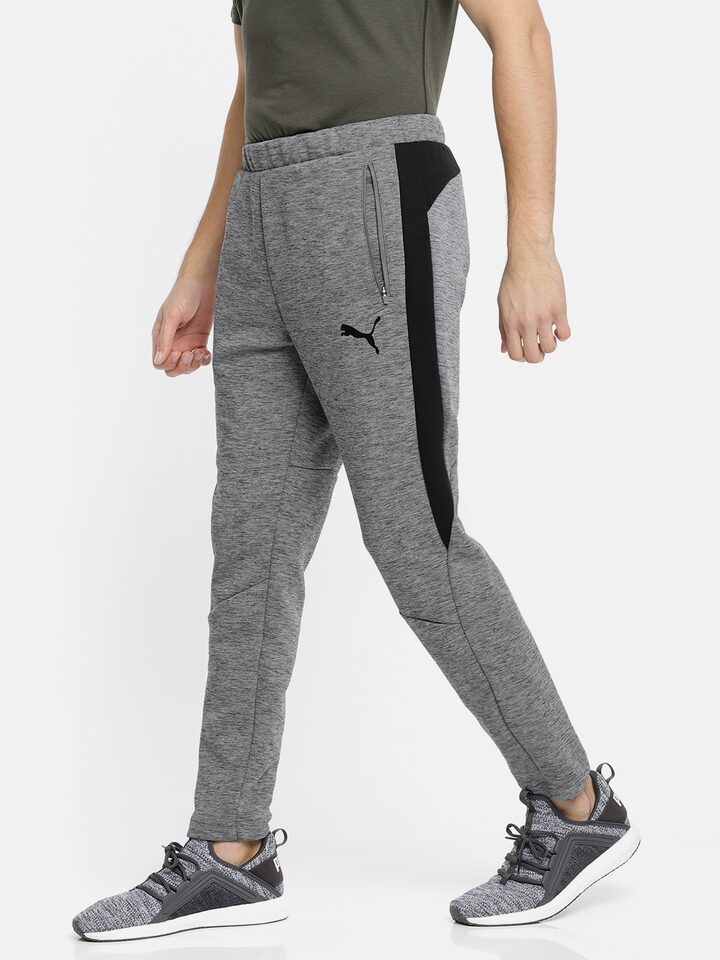 176a4c8a98b710 Buy Puma Men Grey Slim Fit Evostripe Track Pants - Track Pants for Men  6911956 | Myntra