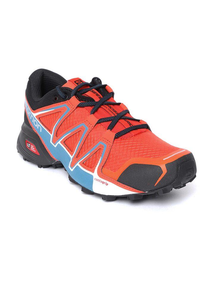 95aa7b6b Salomon Men Orange & Blue Mid-Top Running Shoes