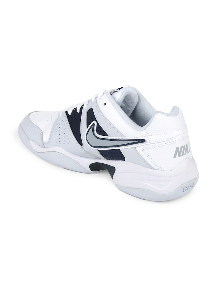 new concept cdf8c 8bf3f Nike Men White   Grey City Court VII Indoor Sports Shoes