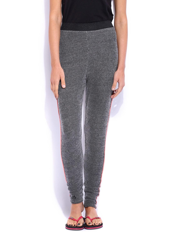 Jn Joy Charcoal Grey Lounge Pants 1502WLOOSE01 image
